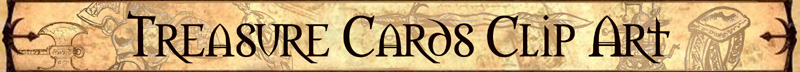 Treasure Cards Clip Art