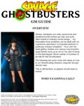 Savage Ghostbusters GM Guide