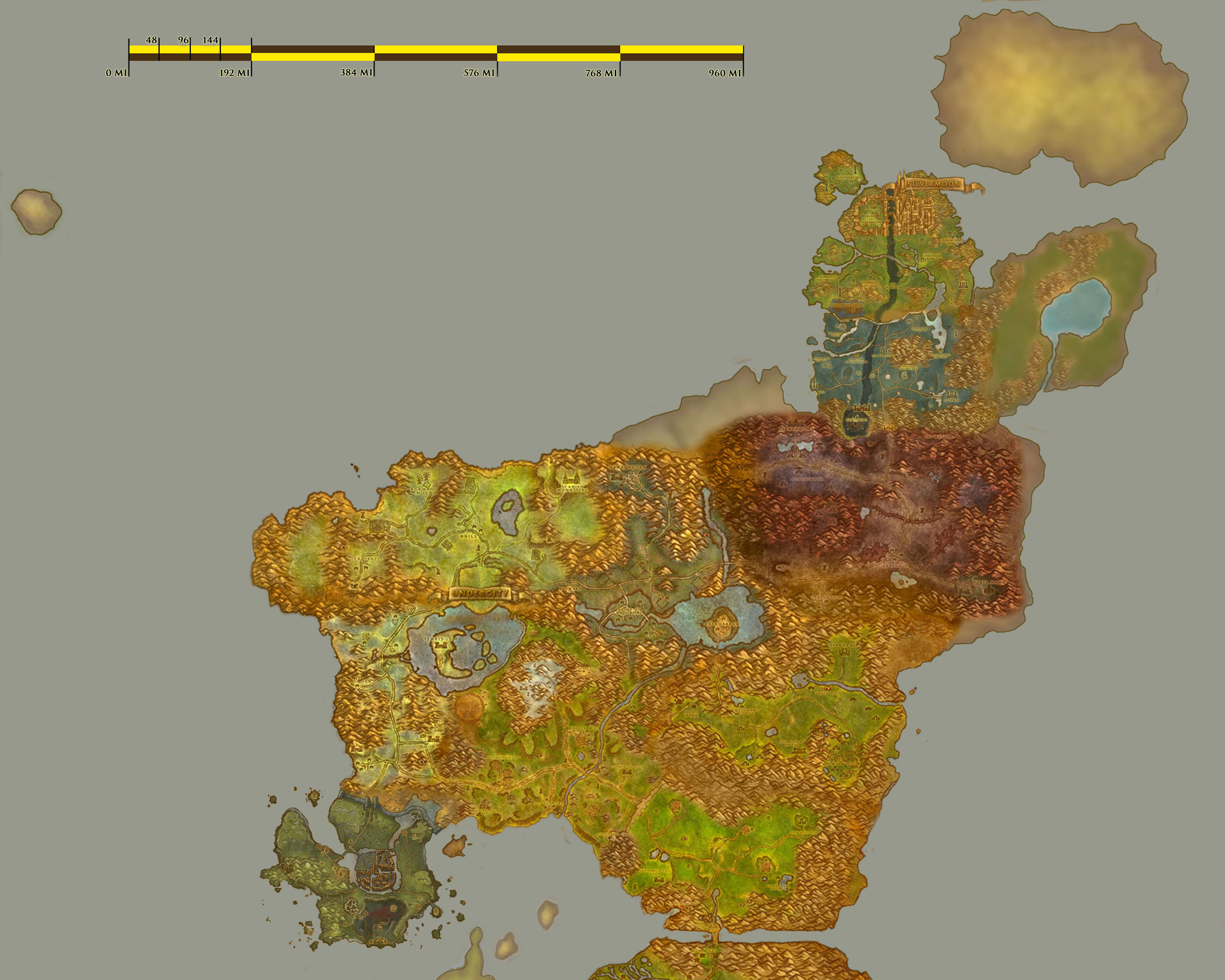 Greywolfs world of warcraft fan site travel eastern kingdoms map no labels part a gumiabroncs Image collections