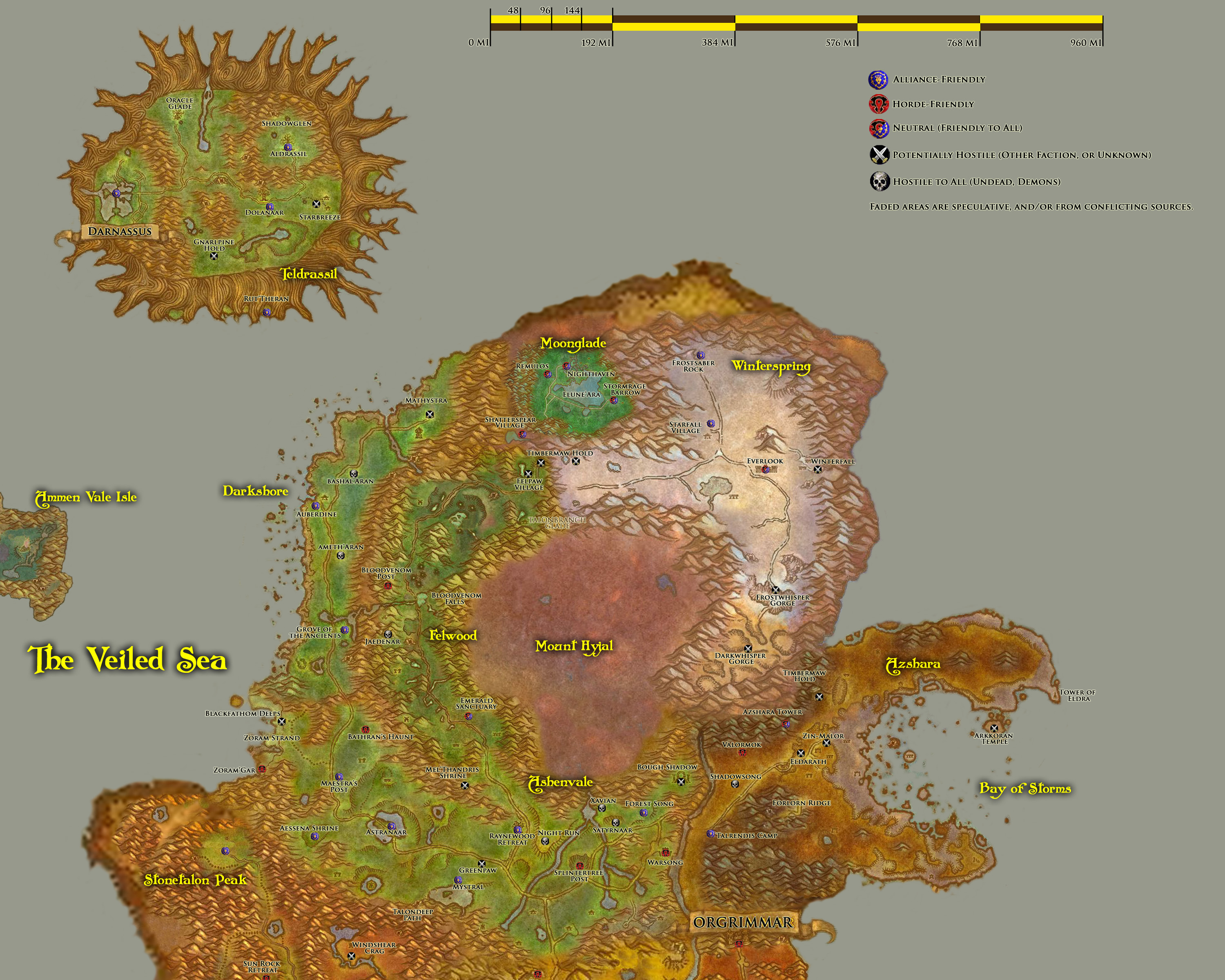 Greywolfs world of warcraft fan site travel kalimdor travel map part a gumiabroncs Images