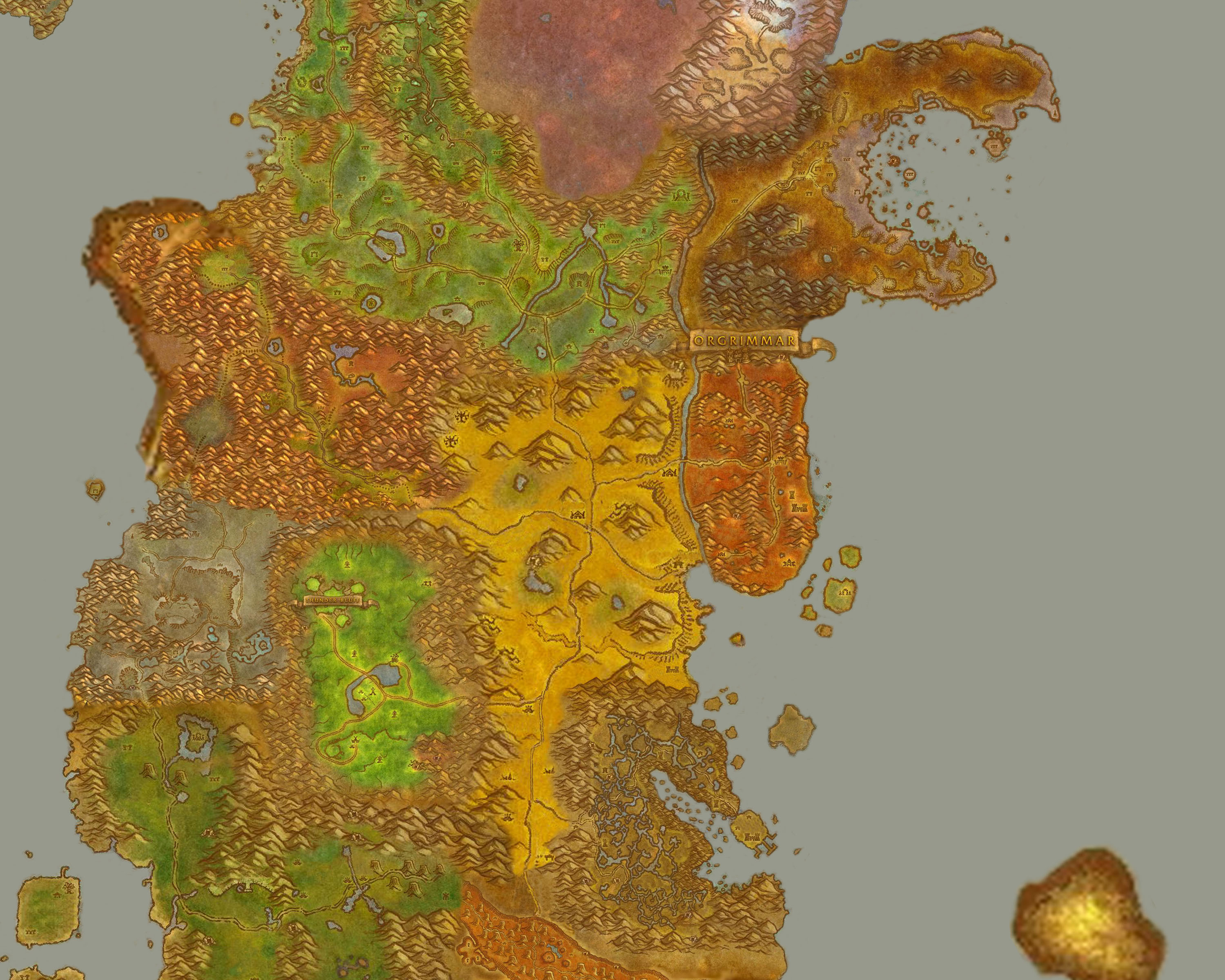 Greywolfs World Of Warcraft Fan Site Travel - World map no labels