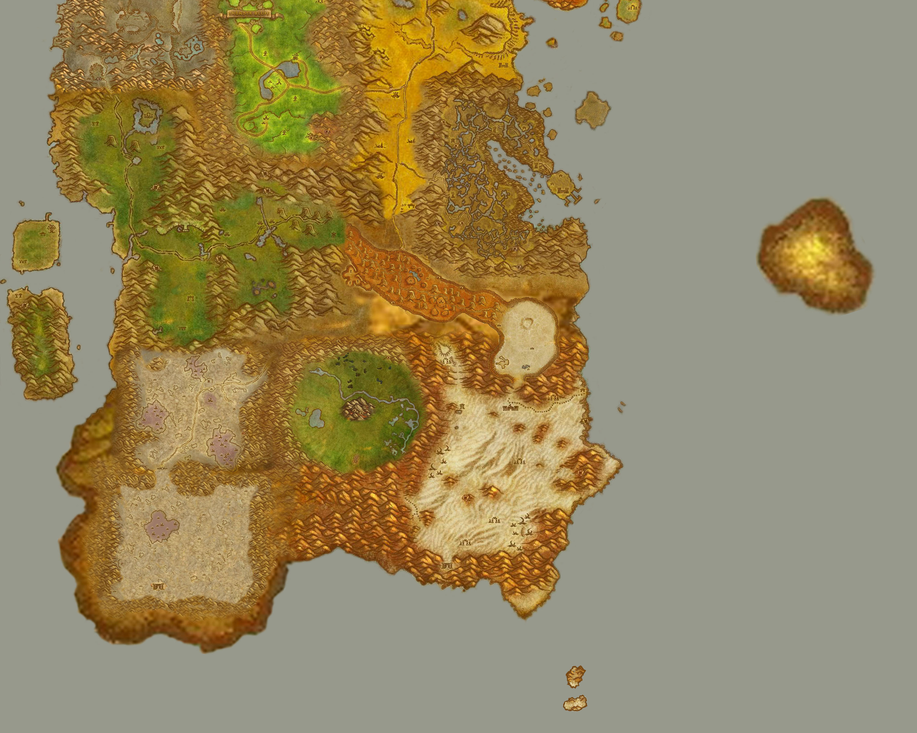 Greywolfs world of warcraft fan site travel kalimdor map no labels part c gumiabroncs Images